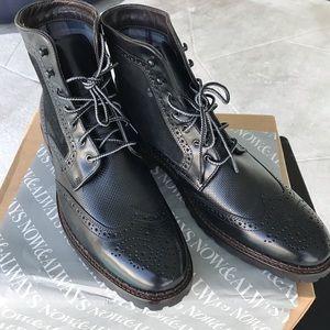 NIB J&Murphy ankle black GARRISON men's boots 10.5